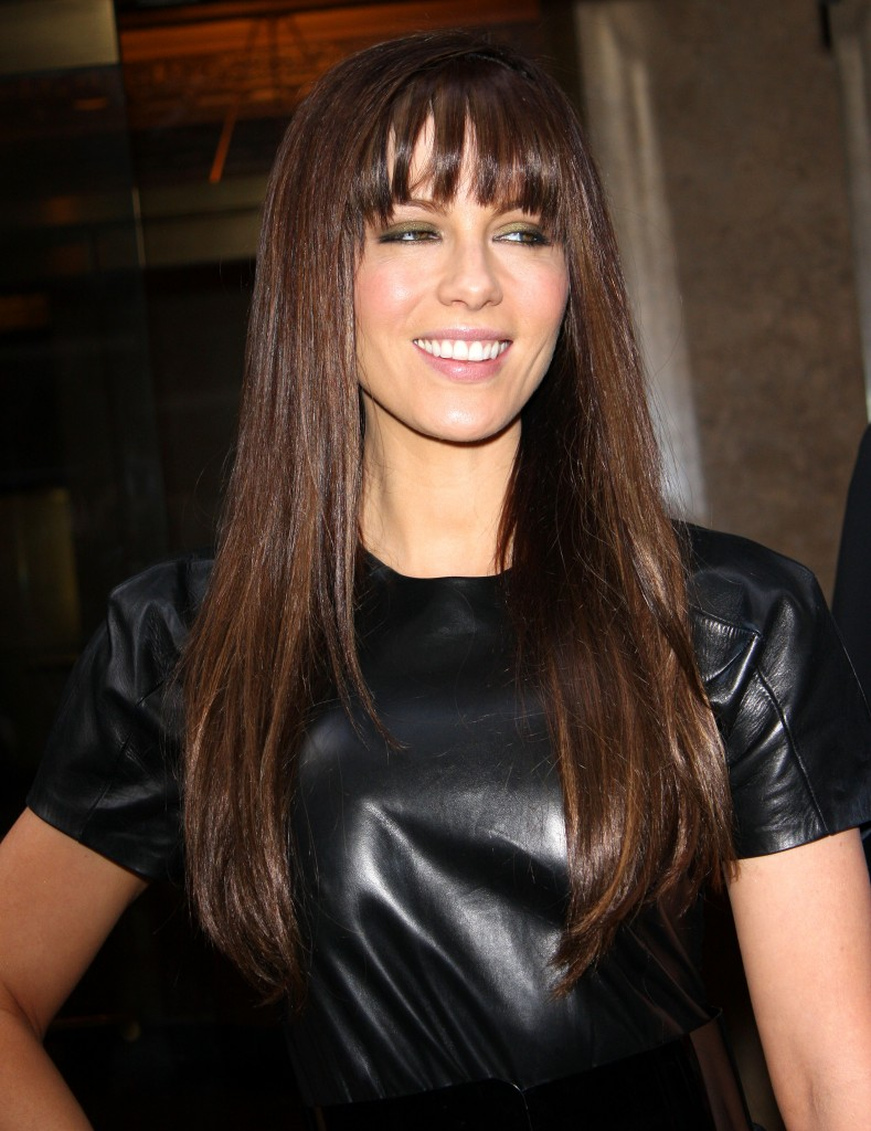 Long Brown Hairstyles With Fringe