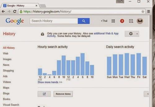 Cách xóa lịch sử duyệt tìm kiếm trong Google Chrome