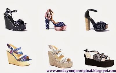 zapatos y sandalias en colores y plataforma