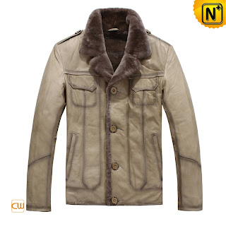 Men Sheepskin Fur Coat