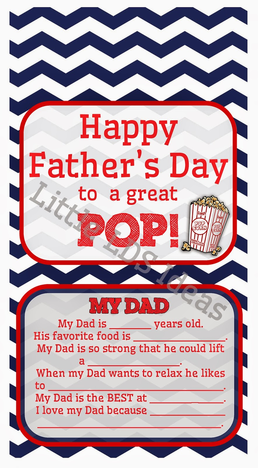 Father's Day Popcorn Label: Free Printable from Little LDS ...