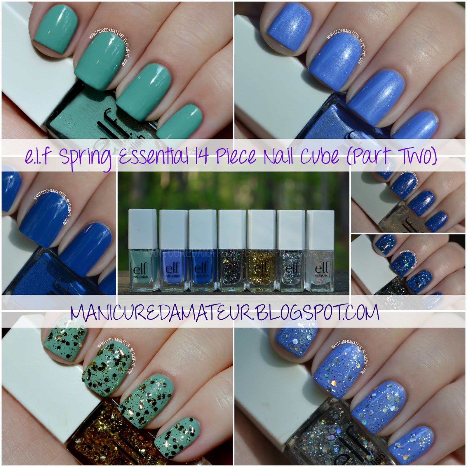 E.L.F Essential Spring 14 Piece Nail Cube Swatches and Review (Part Two)
