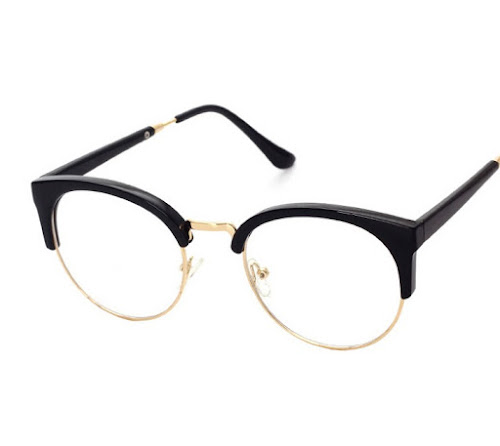 Golden - Retro super light round wire frame eyeglasses - antique ...