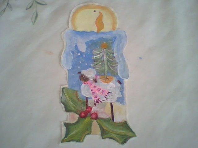 Adornos navide os pintura en tela para adornos navide os - Adornos navidenos en tela ...