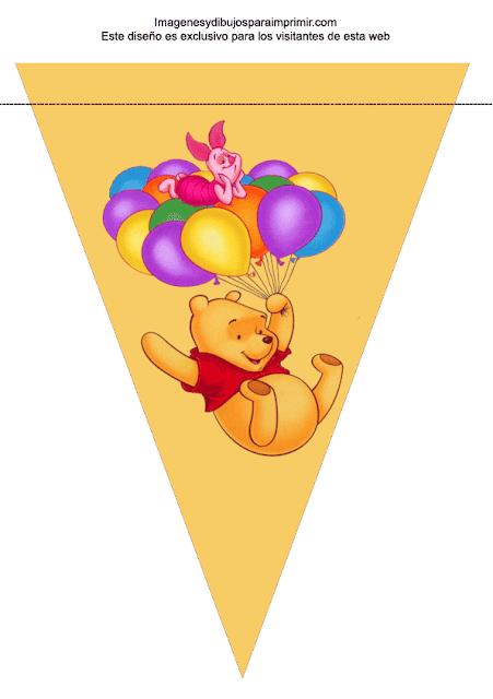 Banderin de winnie the pooh para cumpleaños