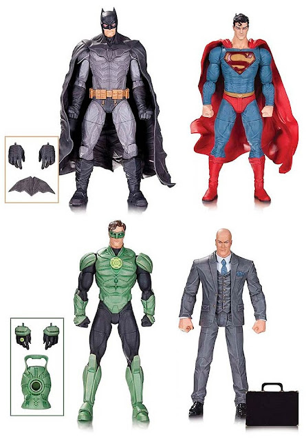 DC Comics Lee Bermejo Designer Series Wave 1 Action Figures – Batman, Superman, Green Lantern & Lex Luthor