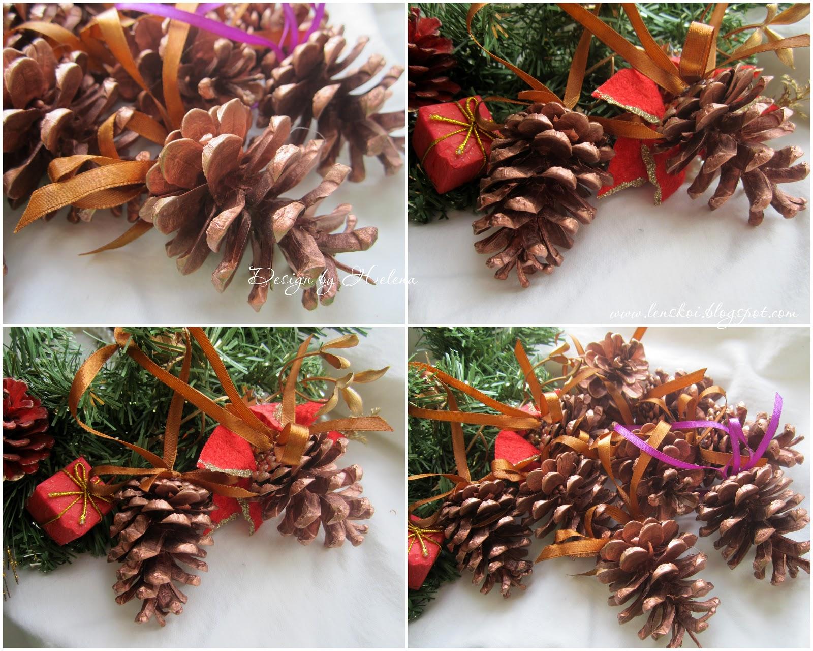 Новогодние украшения фото шишки