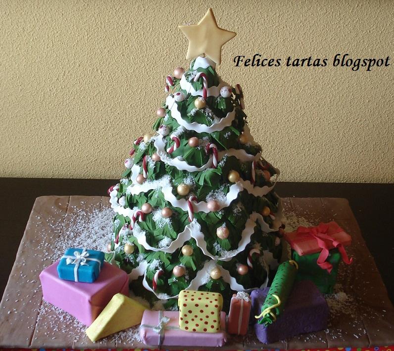 Felices Tartas Tarta Arbol De Navidad
