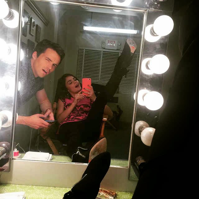 Lucy Hale and Ian Harding BTS PLL