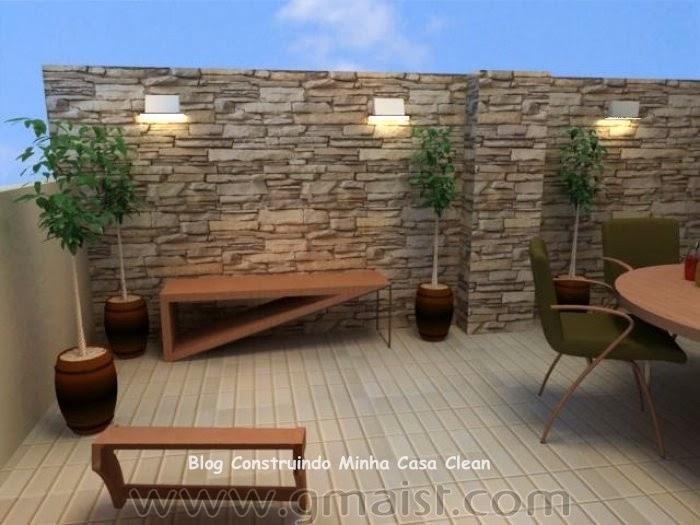 Construindo minha casa clean paredes com pedras - Impermeabilizar paredes interiores ...