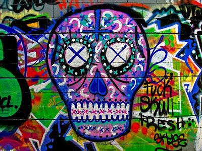 Graffiti Wall, Skull Graffiti
