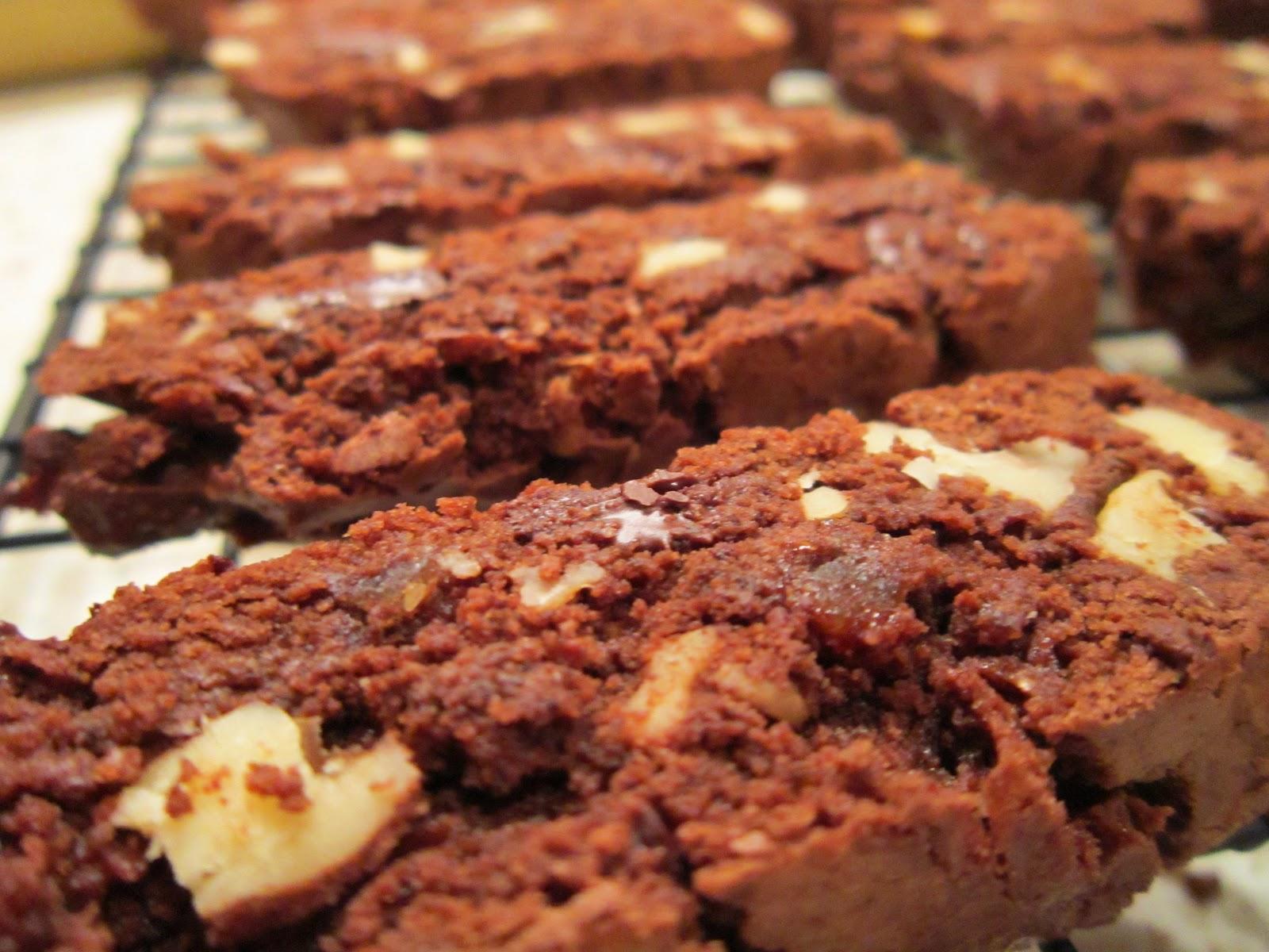 The Italian Next Door: Double Dark Chocolate and Ginger Biscotti