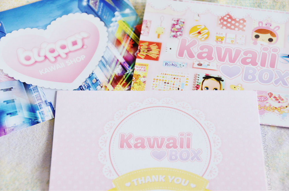 Kawaii Box makes your monthly subscription feel extra cute and personal with handwritten thank-you notes and cute cards!
