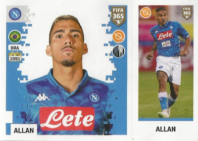Panini FIFA365 2019 Lorenzo Insigne Sticker 253 a//b SSC Neapel