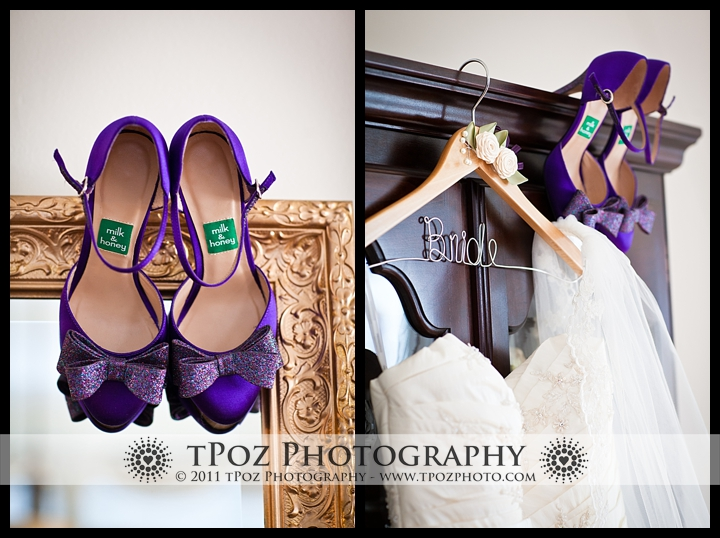 Purple Sparkly Shoes Belvedere Wedding Photos