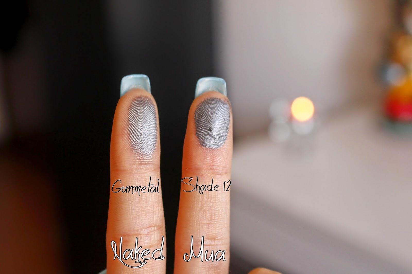 Naked Mua gunmetal shade 12