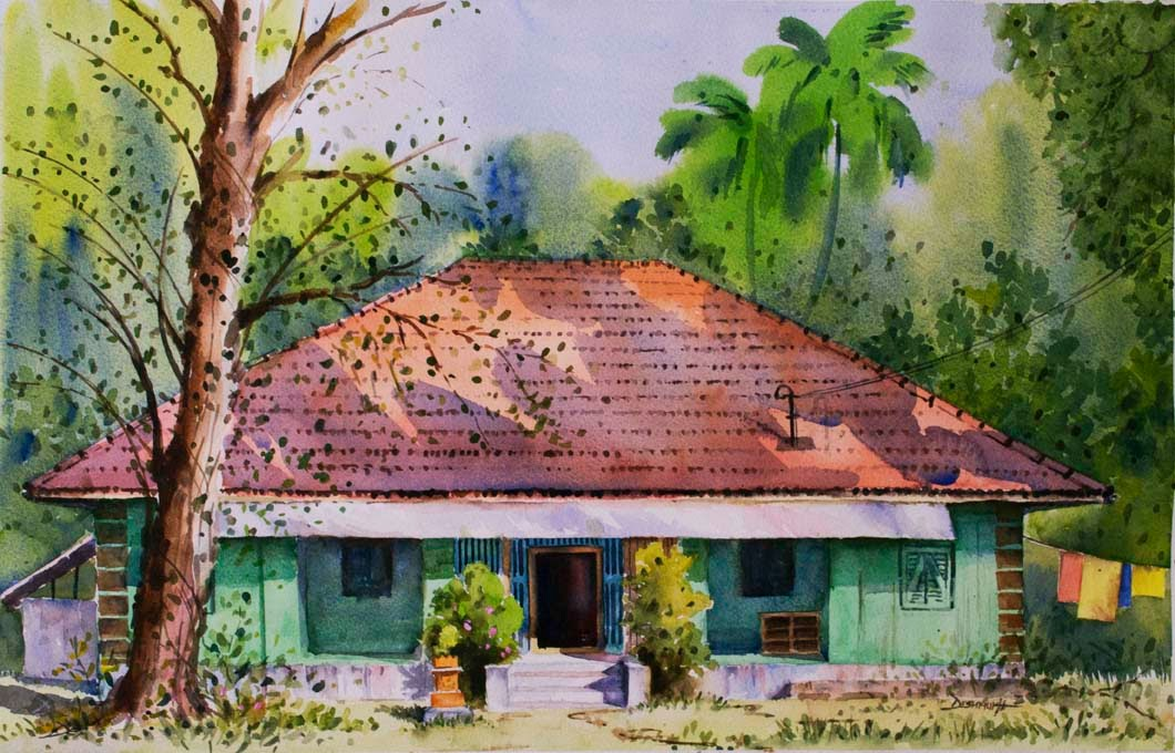 Konkan house painting images for Konkan home designs