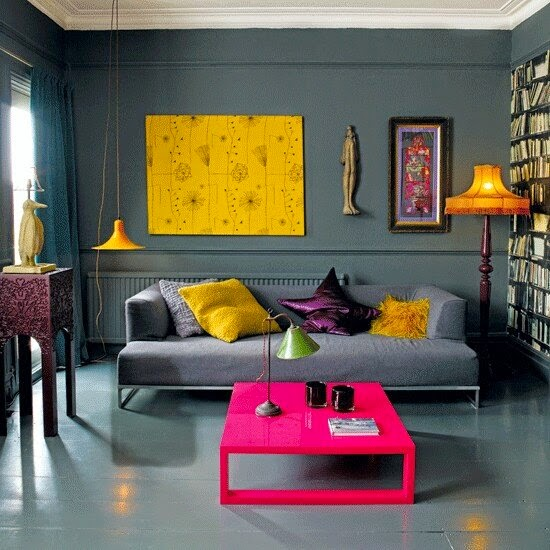 Gray And Yellow Combination Interior Ideas...
