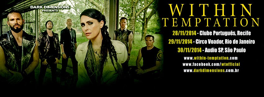 Within Temptation Brazil tour 2014