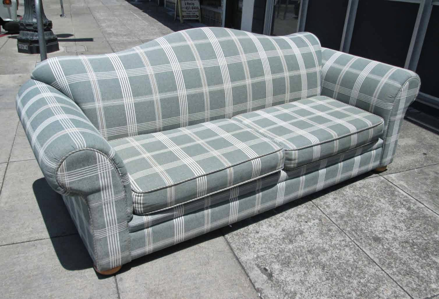 Uhuru Furniture Collectibles Sold Sage Plaid Sofa 95