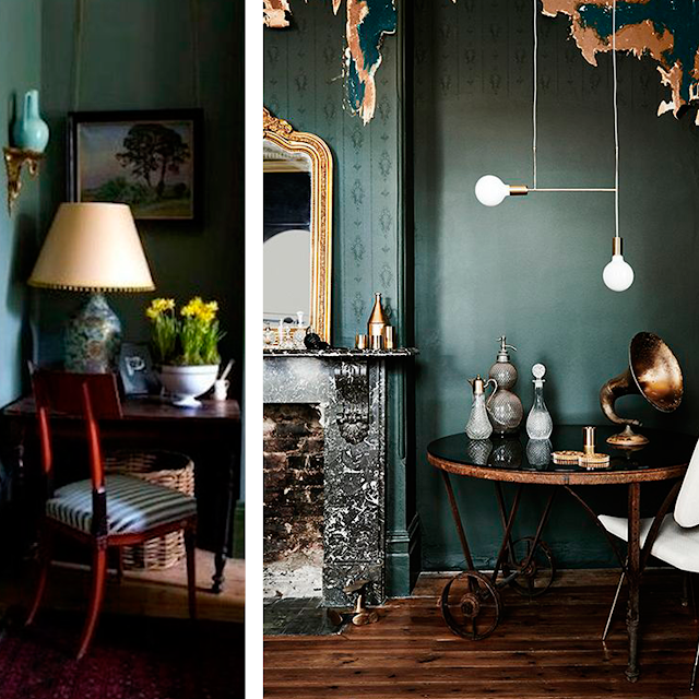 GREY AND GREEN • COLOR INSPIRATION • the Round Button blog