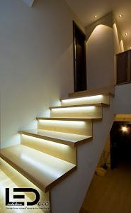 Led posvietenie schodišťa - stmievateľné