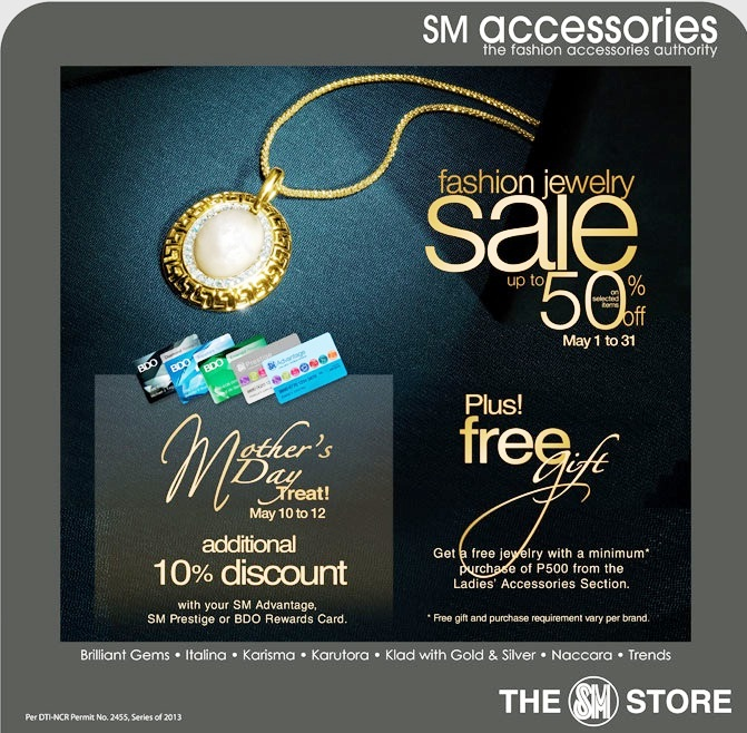 Manila shopper fashion jewelry sale at sm department for Jewelry sale online shopping