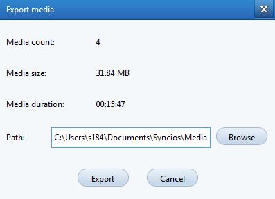 SynciOS - export media