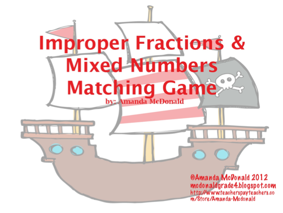 Improper Fractions Games 4th Grade free equivalent fractions – Converting Improper Fractions Worksheet