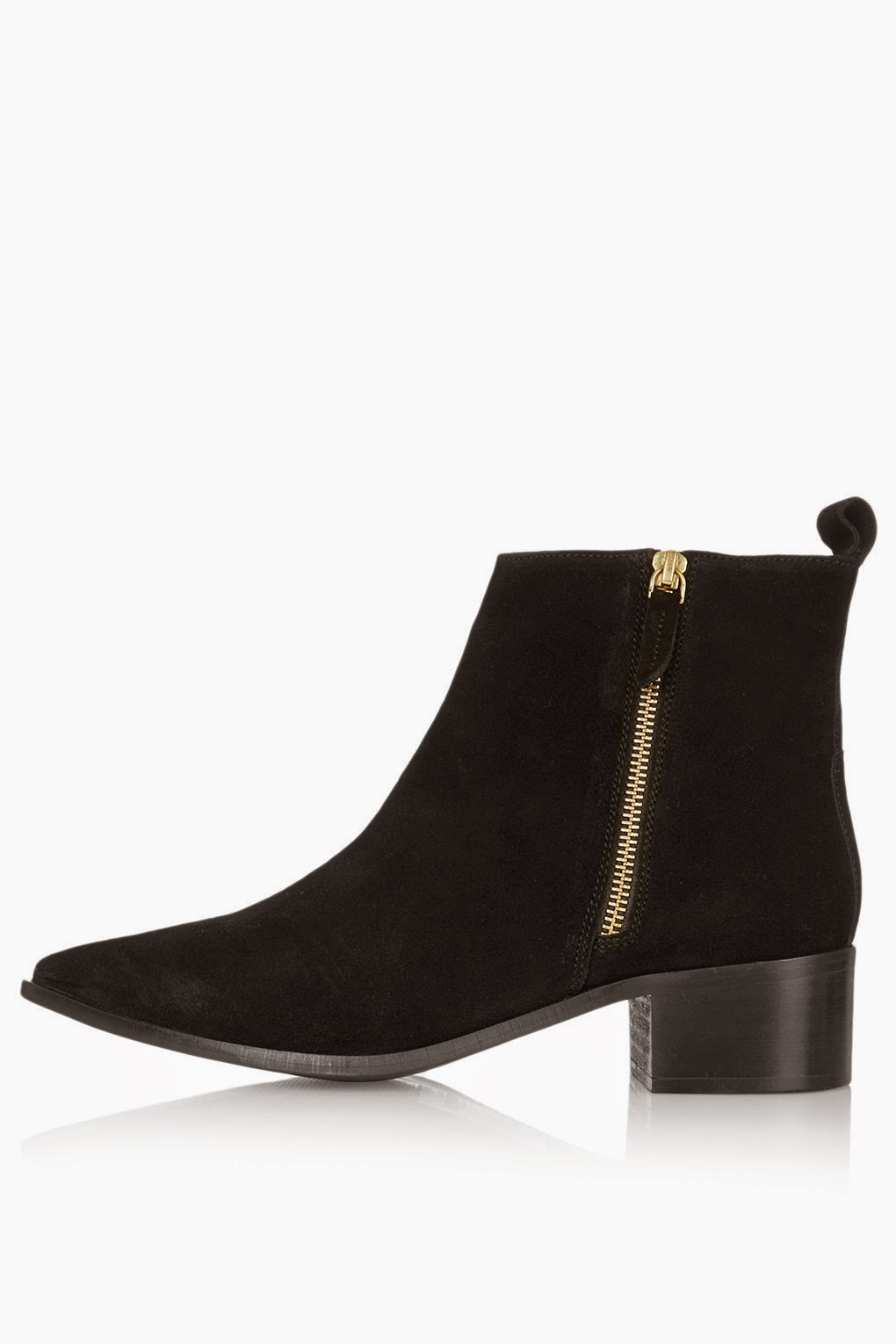 topshop black pointed boot, black suede pointed boot,