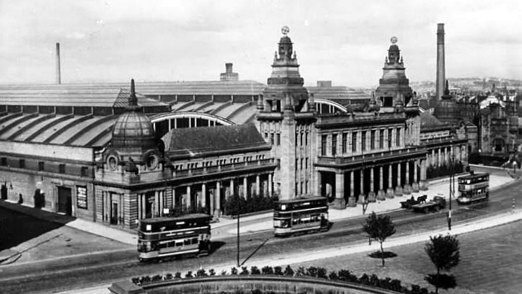 Old photograph of The Kelvin Hall in Glasgow , Scotland .