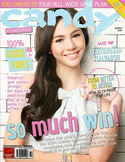 Janella Salvador Covers Candy Mag March 2014 Issue