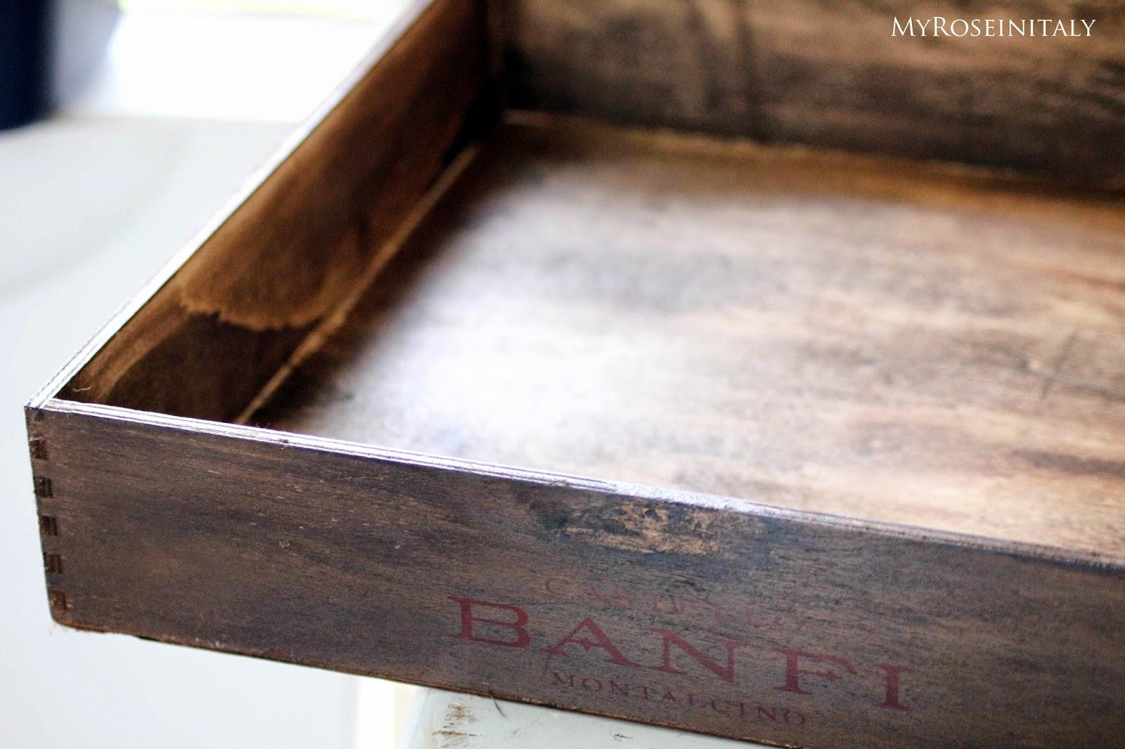 My roseinitaly da cassetta per il vino a vassoio fai for Costruire una semplice capanna di legno