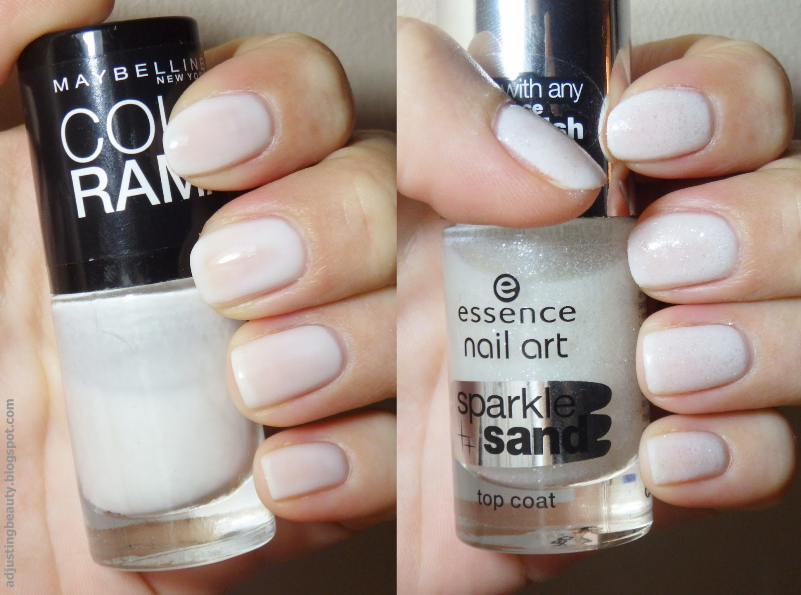 Review essence nail art sparkle sand top coat adjusting beauty works with any essence nail polish however i do think it still looks really pretty with other nail polish brands the silver glitter looks especially prinsesfo Images