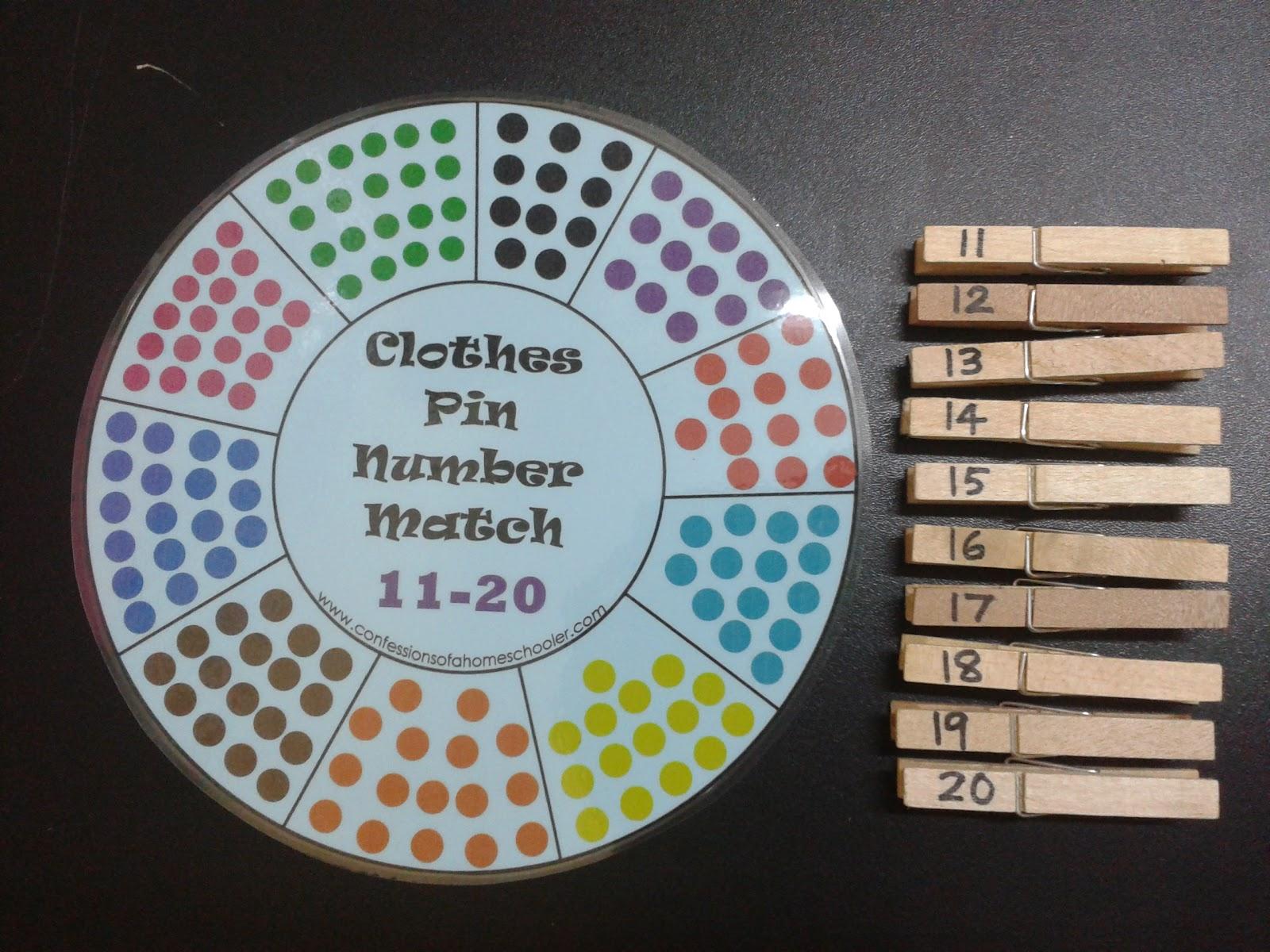 Mama Homeschool: Fun Learning ~ Counting 11-20