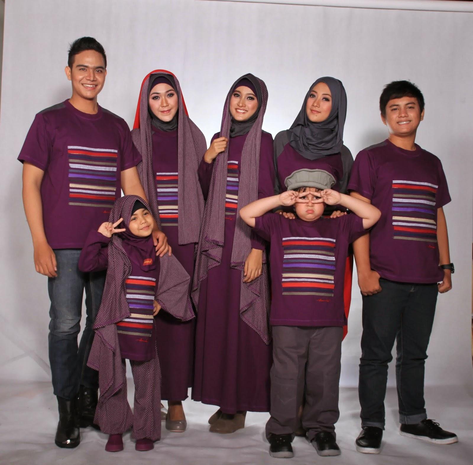 Contoh Model Baju Muslim Keluarga Terbaru