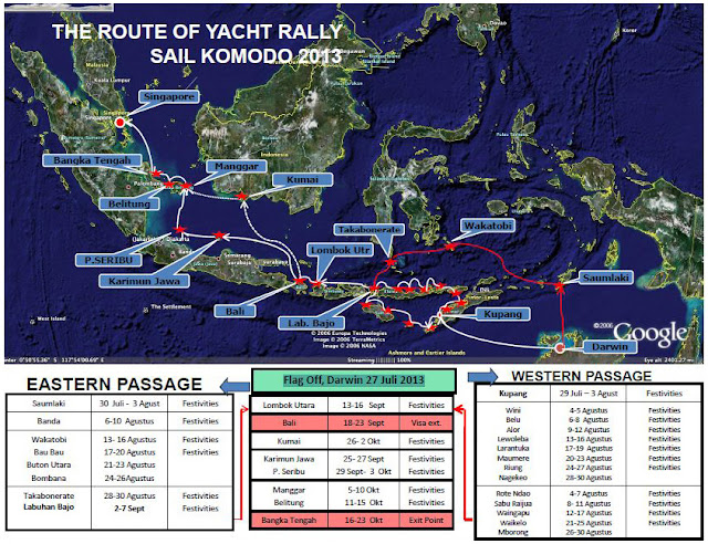The Route Of Yacht Rally Sail Komodo 2013