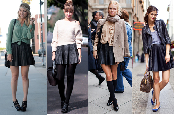 How to wear leather skirt for fall – Your skirt this season photo blog