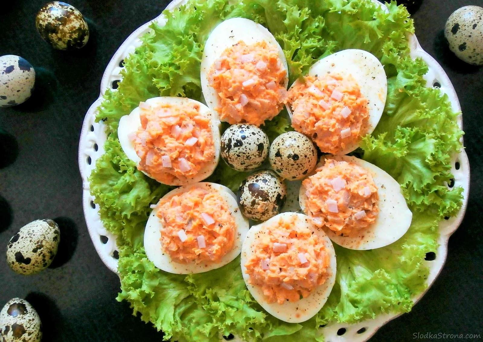 Jaja Faszerowane Pastą z Szynką - Przepis - Słodka Strona