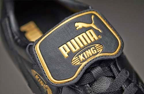 Puma King Top K FG Football Boots with Black Gold Color