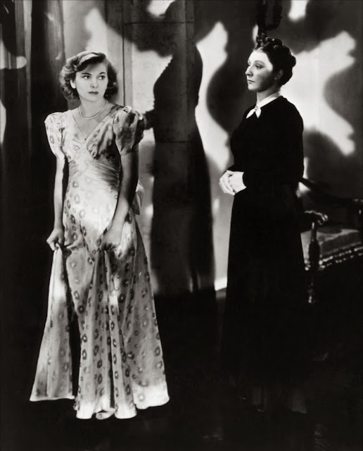 HVB vintage wedding blog - Remembering Joan Fontaine, with co-star Judith Anderson in REBECCA