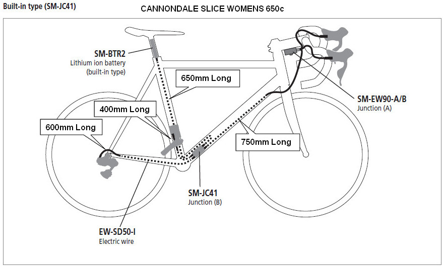 Internal%2BWiring%2BLengths cannondale slice upgrade shimano di2 parts list ultegra di2 tt wiring diagram at love-stories.co