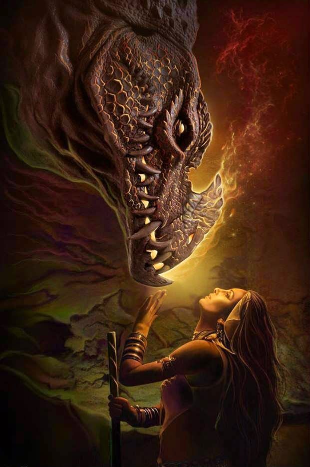 Fire Dragon with Girl