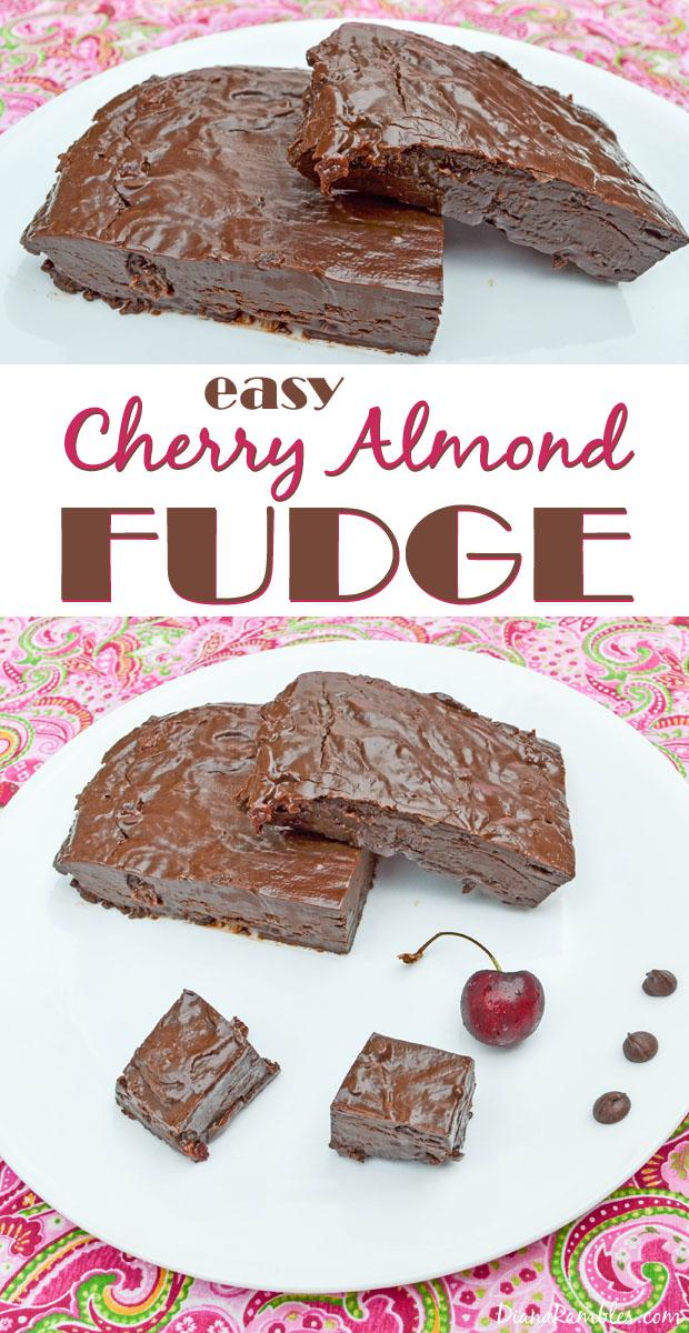 Easy Cherry Almond Microwave Fudge