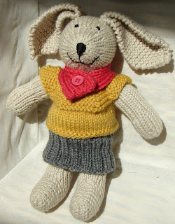 knit bunny sweater cowl skirt
