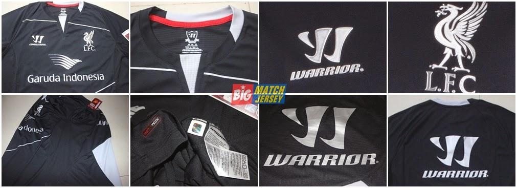 Detail Gambar Jersey GO-PI Liverpool Training Black Garuda Indonesia 2014-2015