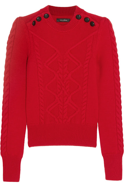 Isabel Marant Dustin cable-knit stretch-wool sweater