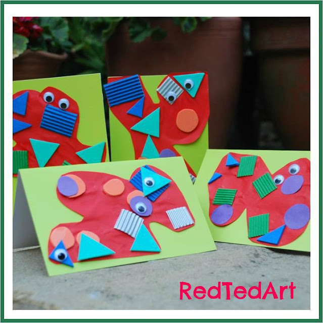 photo of: Child Crafted Monster Greeting Cards from RedTedArt (via Monster RoundUP with RainbowsWithinReach) 