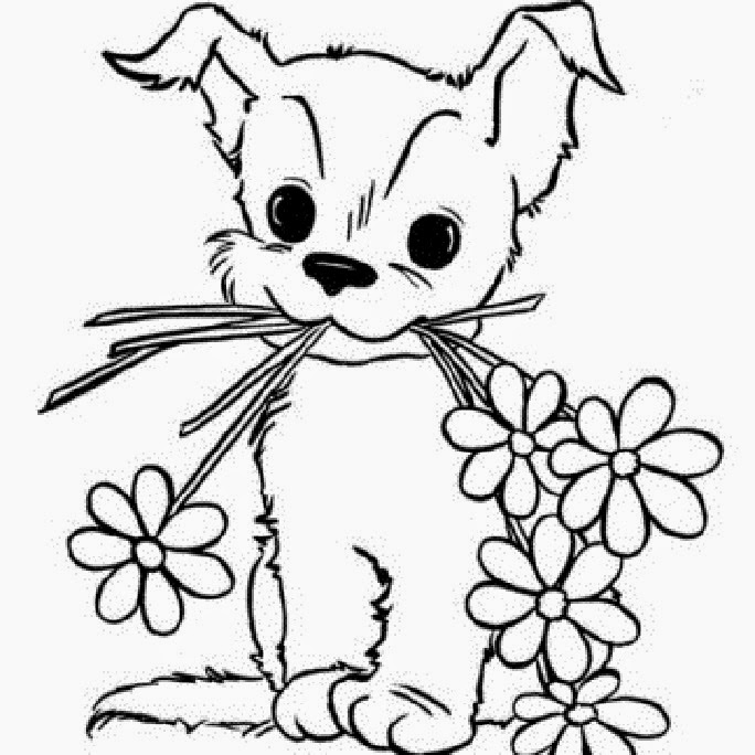 Colours Drawing Wallpaper Beautiful Cute Puppies Colour Baby Puppy Coloring Pages