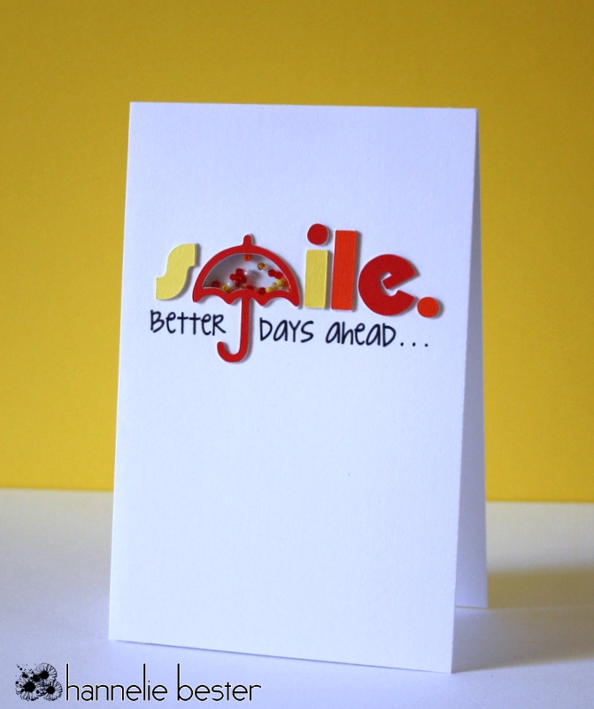 smile card with umbrella
